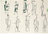 studies for sculpture by robert adams