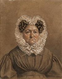 porträt der freifrau von friederici, dresden by franz krüger