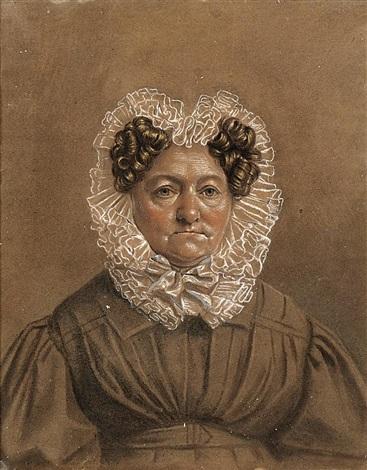 porträt der freifrau von friederici dresden by franz krüger