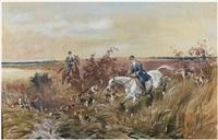 partie de chasse à courre by karl andré jean (baron) reille