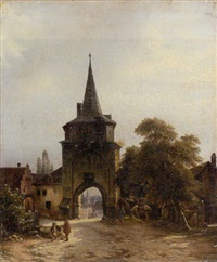 vor dem alten stadttor by julius edward w. helfft