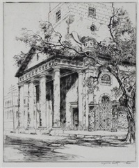 old st. michael's, charleston by alfred heber hutty