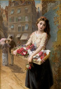 a street flower seller by augustus edwin mulready