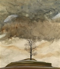 tree and clouds by simon lissim