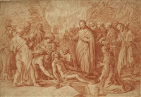 the raising of lazarus by claes cornelisz moeyaert