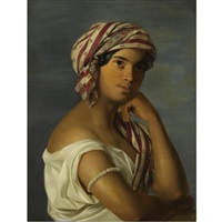 girl with a pearl arm cuff by rosalia amon