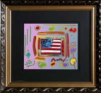 flag with heart by peter max