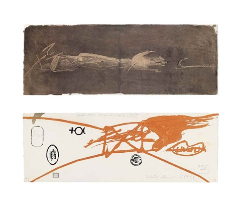 llull tàpies set of 24 by antoni tàpies