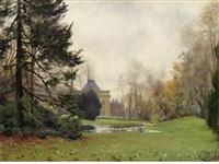 château de bagatelle, bois de boulogne, paris by paul françois louchet