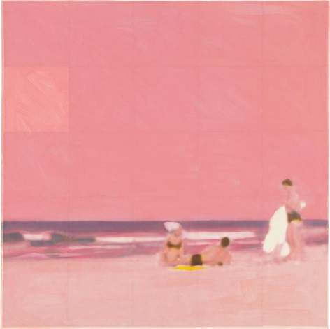 three bathers pink by isca greenfield sanders