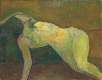 side reclined nude by avni arbas