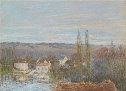 labreuvoir se marly by alfred sisley