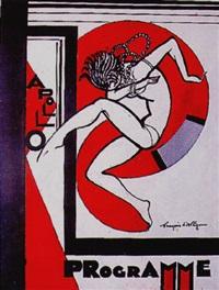couverture pour le programme du music hall appollo by francois d' albignac