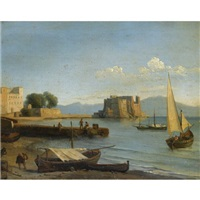 castell dell'ovo, naples by jean charles joseph remond