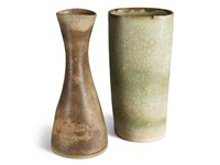 two stoneware vessels by lucie rie