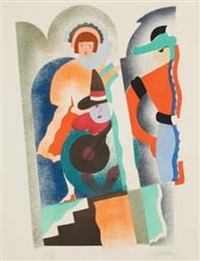 trois personnages by serge gladky