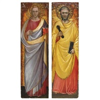 un santo (+ san pietro; pair) by spinello aretino