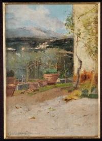 terrazzo con vasi by ulvi liegi (luigi levi)