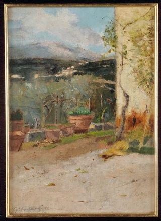 Terrazzo con vasi by Ulvi Liegi (Luigi Levi) on artnet