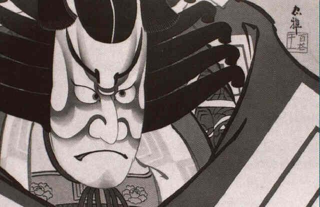 darstellung der rolle des helden kagekiyo by ueno torii tadamasa