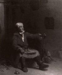 portrait of an artisan in his workshop by joseph clayton bentley
