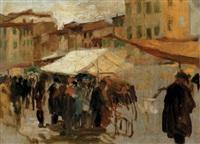 piazza di mercato by armando spadini