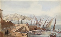 a view of lisbon (+ 2 others; 3 works) by captain arthur tower
