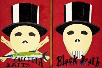 calcuta baits & black death by eduardo arroyo