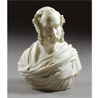 bust of a gentleman, rome by john adams-acton
