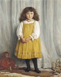 the yellow pinafore by henry macbeth-raeburn