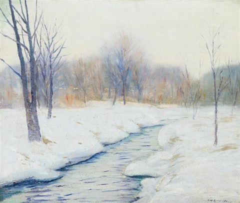 a river in winter by edward willis redfield