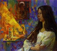 septemberlicht (porträt olgas) by igor leontiev