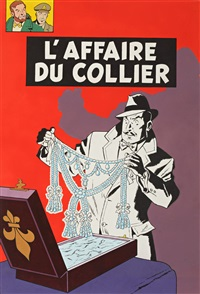 black et mortimer (cover from album l'affair du collier) by jacobs