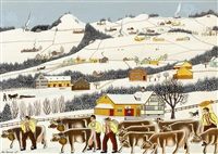 winterbild burgstock by albert manser