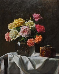 still life of roses by jason fishbein