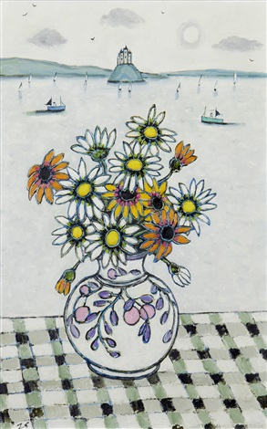 african daisies by joan gillchrest