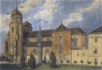 ansicht des stiftes klosterneuburg by edmund frederic arthur krenn