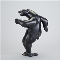 dancing polar bear by davie atchealak