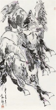 群马图 by liu boshu