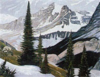 late thaw at peyto glacier by william (h.w.) townsend