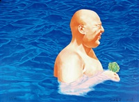 游泳系列 (swimming series) by fang lijun