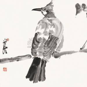 水墨花鸟 by zhou jingxin