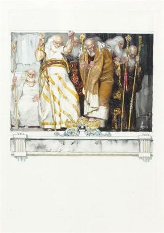 les vieillards illustration pour les érinnyes de leconte de lisle by frantisek kupka