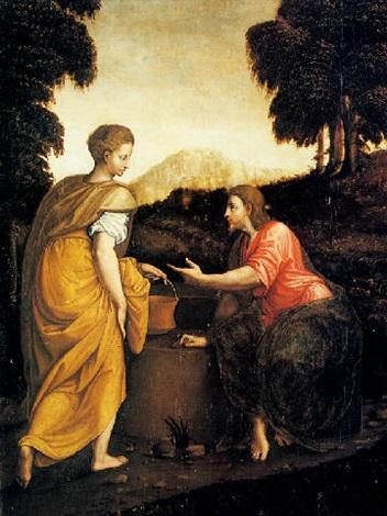 cristo e la samaritana by luca romano penni