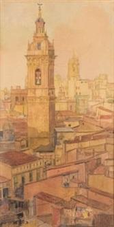 torre del miguelet by francisco llorens y diaz