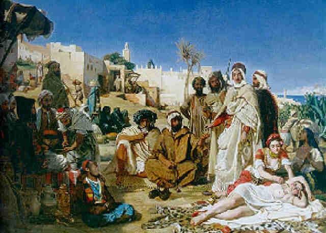les marchands desclaves au faubourg babazoun à alger by ernest francis vacherot