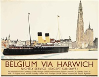 belgium via harwich by frank henry mason and fred hill
