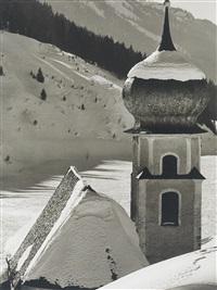 kirchturm, winter 55 by stefan kruckenhauser