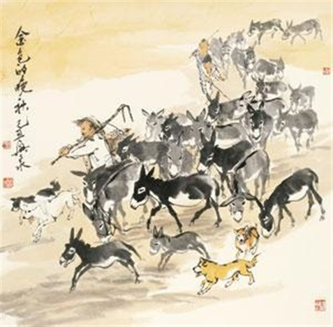 人物毛驴 by liu xingquan