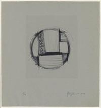 drawing for tondo no. 2 by fritz glarner